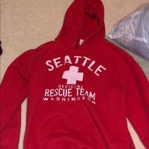 Red Seattle Rescue Team sweatshirt